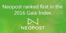 Neopost ranked first in the 2016 Gaïa-Index