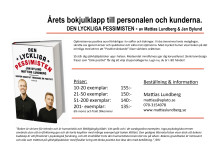 Årets bokjulklapp - DEN LYCKLIGA PESSIMISTEN