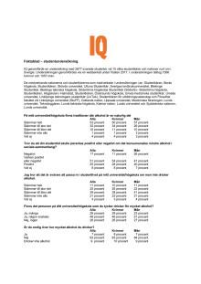 Faktablad - IQ:s studentundersökning
