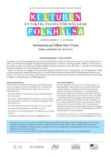 Kulturseminarium i Umeå 23 sept