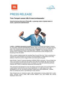 Tinie Tempah - Press Release