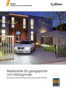 Maskinerier för garageportar och infartsgrindar