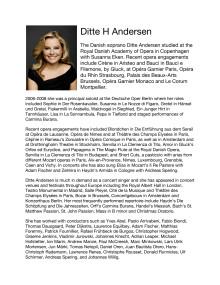 Singer biography: Ditte H Andersen, soprano