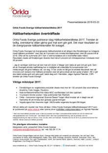 Orkla Foods Sveriges Hållbarhetsberättelse 2017