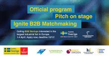 SISP och Ignite Sweden bjuder in startups till matchmaking med storföretag på Hannovermässan 2019