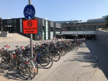 Flytt av cyklar i Centralpassagen