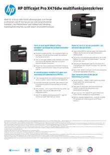Dataark HP Officejet Pro X476dw MFP