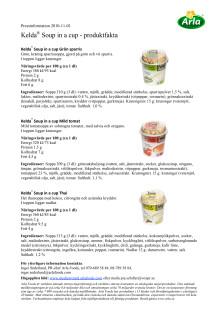 Kelda® Soup in a cup - produktfakta