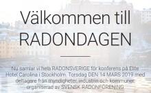 Nu bjuder vi in media till Radondagen den 14 mars
