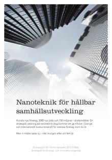 Agenda: Nanoteknik för hållbar samhällsutveckling