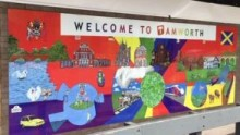 Positive artwork installed to brighten up Tamworth station
