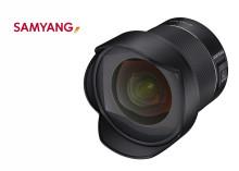 Samyangilta uusi täyden kennon 14mm AF-objektiivi Canon-kiinnitykselle