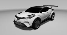 Toyotas crossoverkoncept C-HR tävlingsdebuterar på Nürburgring