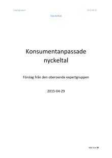 Konsumentanpassade nyckeltal - Förslag från den oberoende expertgruppen