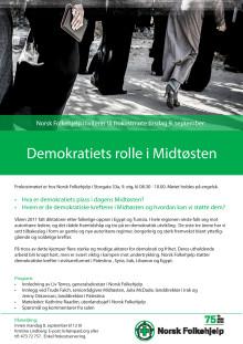 Frokostseminar: Demokratiets rolle i Midtøsten