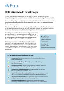Kollektivavtalade försäkringar