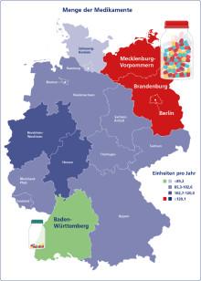 Rückenschmerz im Bundesländervergleich – neue FPZ Studie: Brandenburger und Berliner schlucken die meisten Medikamente