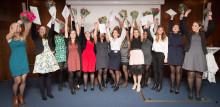 2018 års deltagare i Female Leader Engineer klara