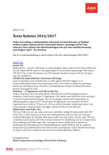 Årets Nyheter 2016-2017