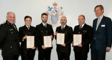 Police officers honoured for going above and beyond their call of duty to save lives