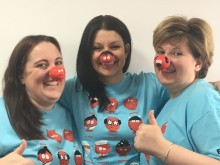 BT staff get red-y for double dose of Comic Relief capers at two of its Shropshire offices