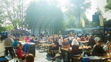 Parken gungar när Foodtruck-Rock intar Stadsparken
