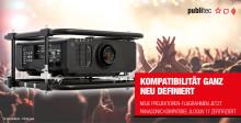 publitec mit neuen Projektoren-Flugrahmen – Panasonic kompatibel und DGUV 17 zertifiziert