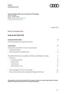 Audi på CES 2019 - detaljeret information