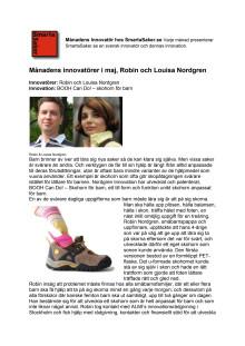 Månadens innovatörer i maj, Robin & Louisa Nordgren.
