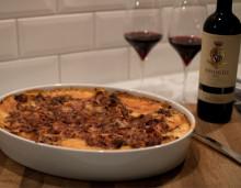 Mustig lasagne med kantareller och västerbottenost