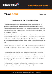 ChartCo Launches New FleetManager Portal