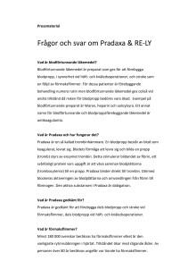 Frågor och svar om Pradaxa & RE-LY