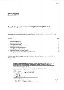 Årsredovisning och koncernredovisning 2011