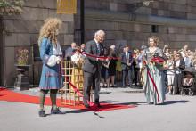 Kungen och kulturministern invigde nya Livrustkammaren