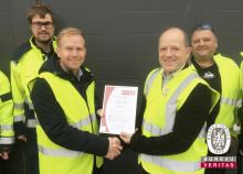 Bureau Veritas Certification overrækker det første ISO45001-certifikat
