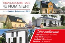 Hausbau Design Award 2019: Town & Country Haus mit 4 Häusern nominiert - Wählen Sie jetzt Ihr Lieblingshaus!