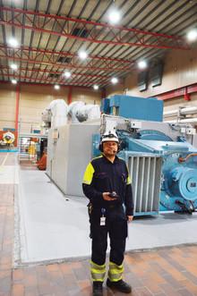 Lulekraft miljösatsar på Polaris LED-belysning i turbinhall