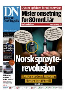 Luer-Jack featured on Front Page of the Major Norwegian Business Newspaper Dagens Næringsliv