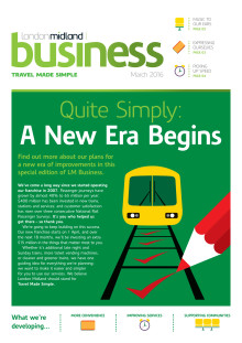 London Midland's March 2016 stakeholder newsletter