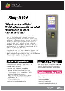 Shop N Go - Produktblad
