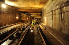 Effektivt påskevedlikehold i T-banetunellen