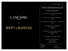 Lancôme lehdistötiedote  Mert&Marcus kevään 2020 meikkikokoelma