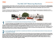 The RAC 2017 Motoring Manifesto - summary