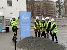 Första spadtaget för Uppsalas första kooperativa hyresrätter