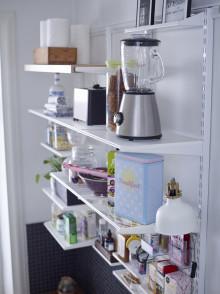 Hvad gør jeg med husholdningsapparater og køkkenartikler som roder i køkkenet?