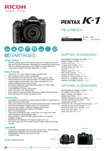 Pentax K-1 Spesifications