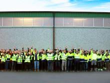 Finjas nya produktionslinje för EPS-betong invigd