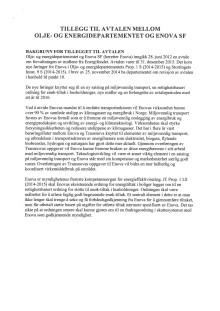 Tillegg til avtalen mellom OED og Enova