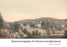 Restaureringsplan för Klosters herrgårdspark