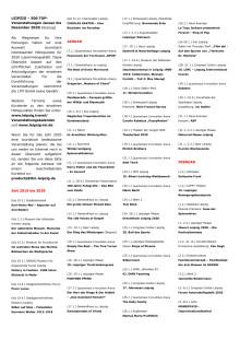 Leipzig 500 TOP-Veranstaltungen 2020